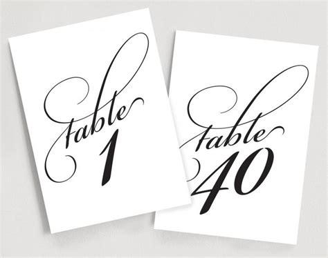 printable elegant numbers printable table numbers instant download 1 40 elegant