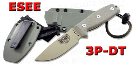 Swiss Army Hardmika Dt esee model 3 desert blade plain edge foliage green sheath clip plate 3p dt