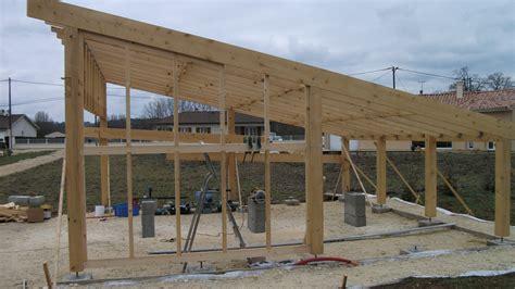 Comment Construire Un Carport Plan by Construction D Un Carport Bois