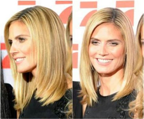 heidi klums face shape hair a collection of hair and beauty ideas to try her