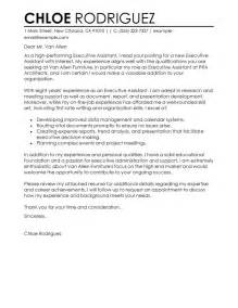 Best Executive Assistant Cover Letter best executive assistant cover letter exles livecareer