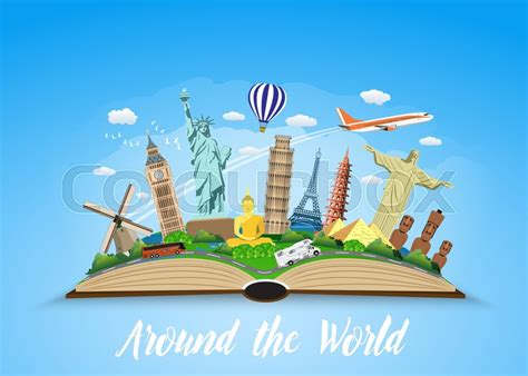 travel  world road trip tourism open book