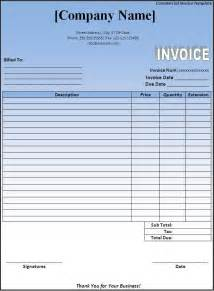 Free invoice template downloads commercial invoice template download