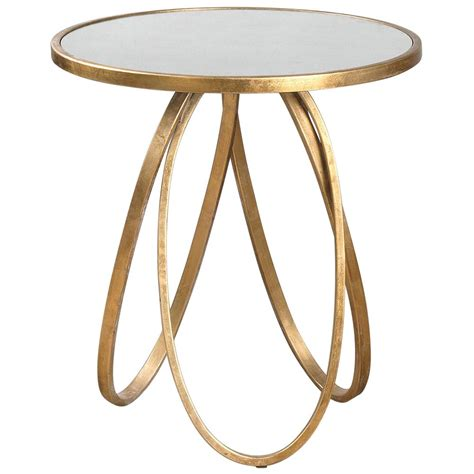 Gold End Table tiff regency antique mirror gold oval ring end