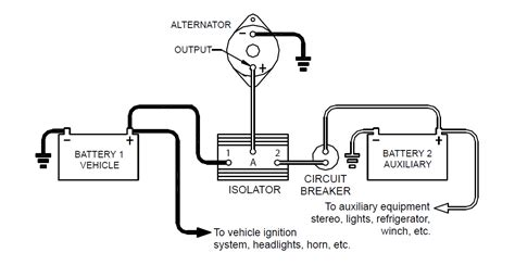 12 volt battery isolator wiring diagram 12 volt ammeter