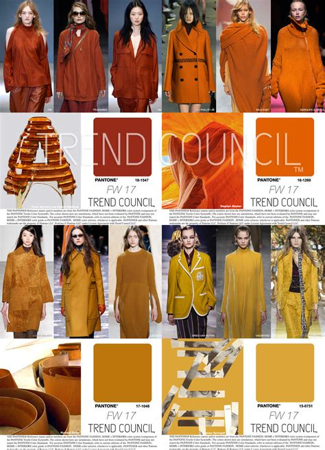 2017 fashion color trend council key fashion color fw17 trends 684720