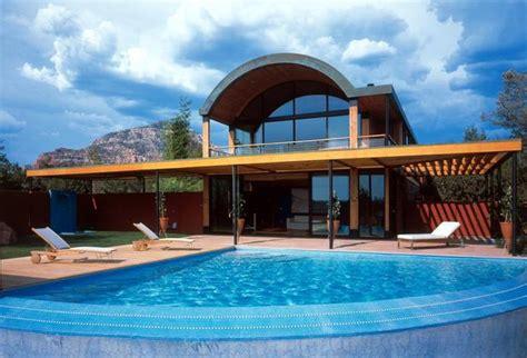 Arizona House Plans Desert House With Copper Clad Barrel Roof Decor Advisor