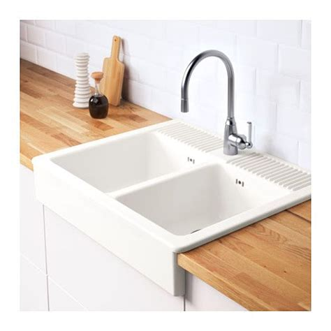 Ikea Portable Kitchen Sink by Domsj 214 Onset Sink 2 Bowls White 83x66 Cm Sinks And Bowls
