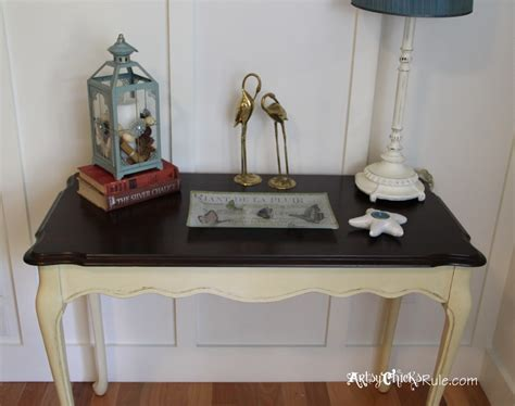chalk paint table top update wood stained furniture easily quickly