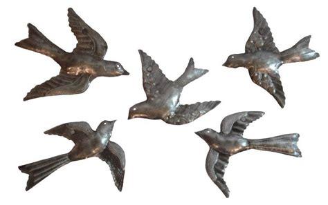 metal birds wall decor haitian metal wall sculpture 5 small flock birds