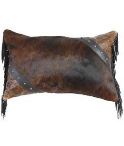 Buy Cowhide Leather Cowhide And Tooled Leather Western Throw Pillow