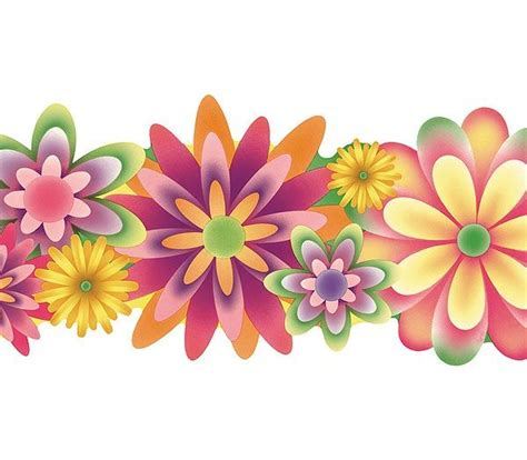 Wall Paper Murals wallpaper borders and murals images of flowers die cut