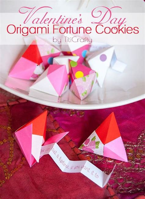 valentine origami tutorial lovers ring origami valentines day and cookies on pinterest