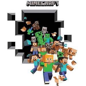 minecraft 3d wall sticker this party started