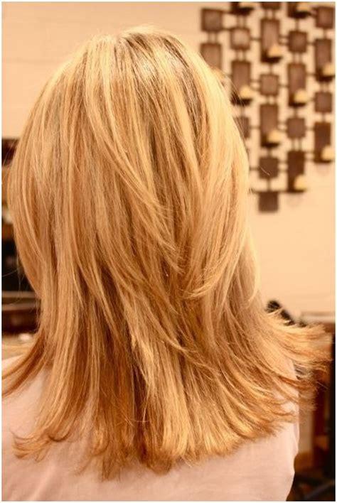 shoulder length hair with layers at bottom medium layered haircuts back view 2014 cute medium layered
