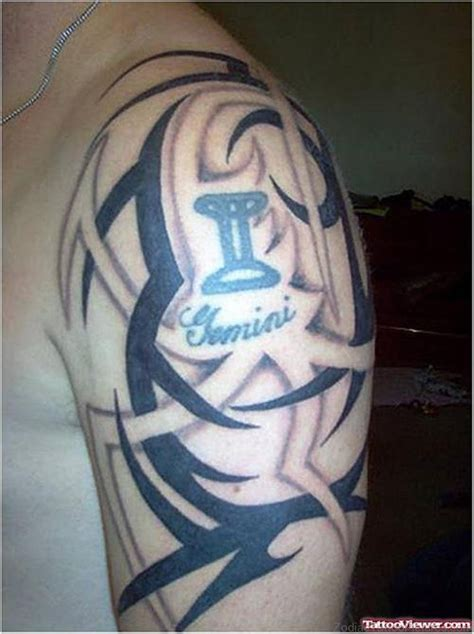 tribal gemini tattoos 46 gemini on shoulder