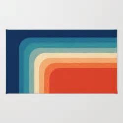 70s color palette retro 70s color palette iii rug by alisa galitsyna society6