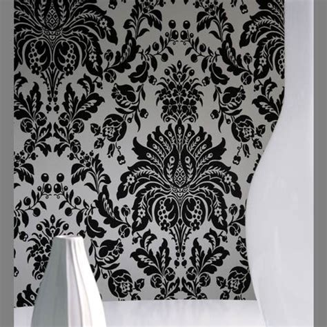 black and white velvet wallpaper carlton black and white faux flocked pri 3100 designer
