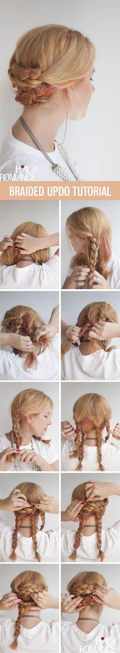 braided updo hair tutorial hair
