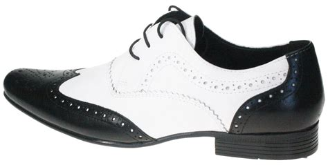 black white leather pointy toe brogue mens spats