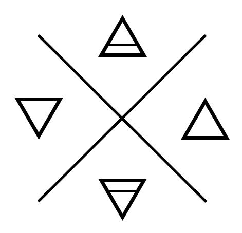 double triangle star tattoo meaning tattoo ideas ink and rose