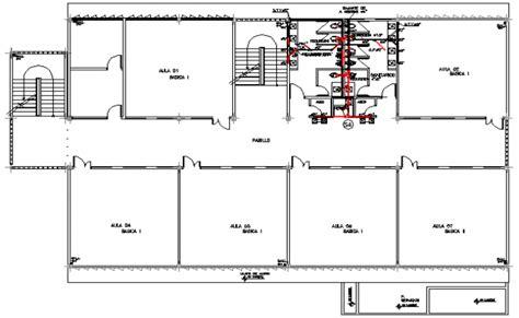 layout plan of school building three flooring compact school building layout plan dwg file