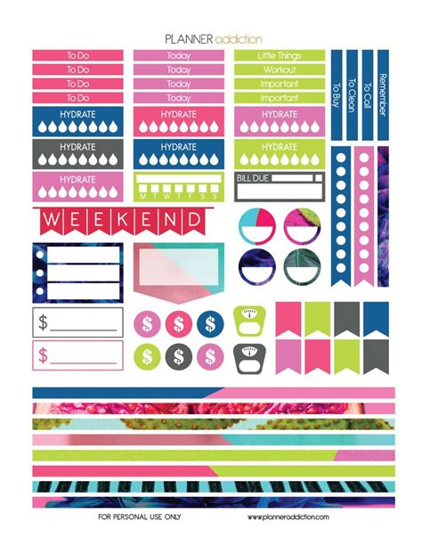 free printable stickers happy planner 17 best images about free large happy planner printable