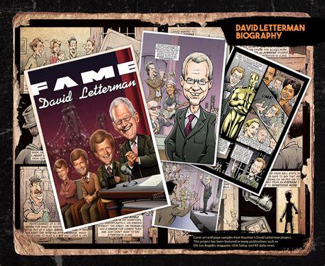 biography comic book the david letterman comic book biography on behance