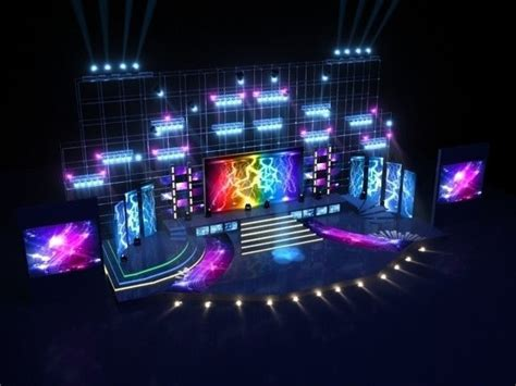 Furniture Building Software stage party concert fashion catwalk t station 3d model max