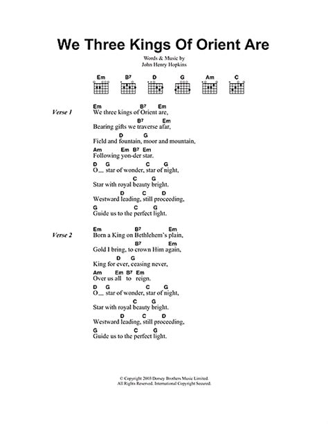 printable lyrics we three kings we three kings of orient are sheet music by christmas