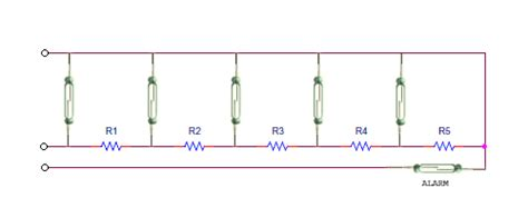 resistor based circuit reed switch based level sensing circuits