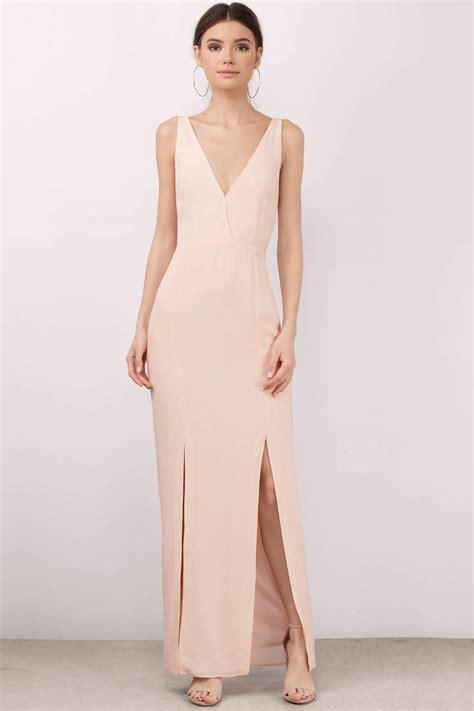 Slit Dress Maxi Dress Wanita Gitta Slit noemie pink maxi dress 190 00 tobi