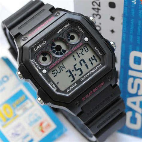 Jam Tangan Casio Original Ae 1300wh 1a2v Persegi Digital Garansi 1th jam tangan casio digital original ae 1300wh kotak tali karet