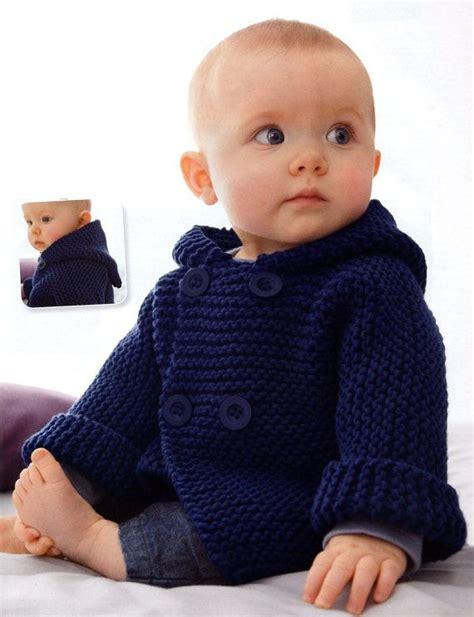 baby sweater knitting patterns for beginners garter stitch baby hooded jacket beginner knitting