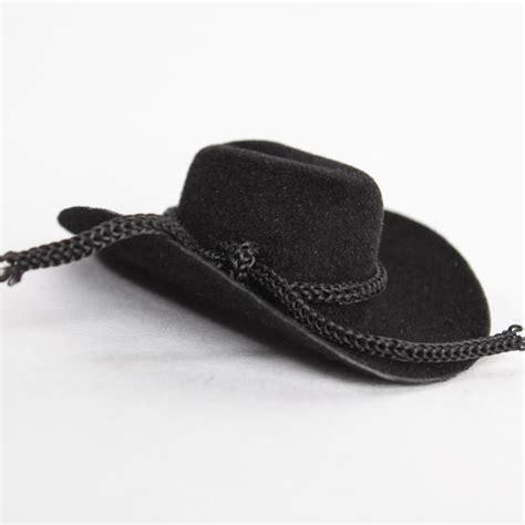 black doll supplies black flocked cowboy doll hats doll hats doll