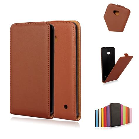 Casing Nokia 1109 640 high quality vertical plastic cover cow split magnetic genuine leather for microsoft