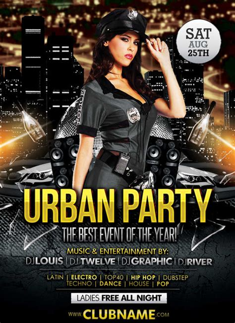9 Club Party Flyers Free Psd Eps Vector Ai Format Download Free Premium Templates Club Flyer Template