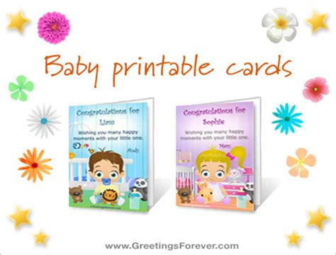 printable birthday cards for roommate baby printable cards