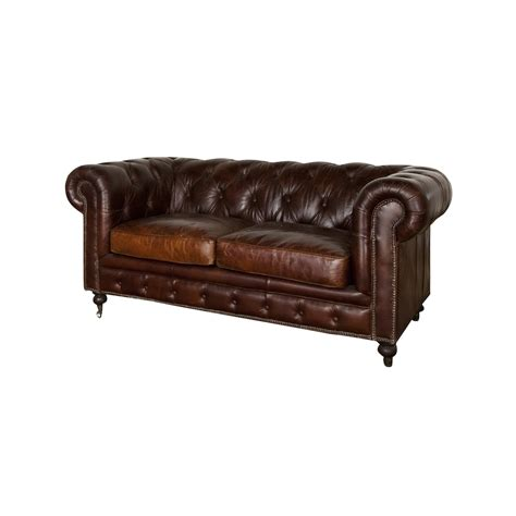 cigar leather sofa grange leather 2 seater sofa vintage cigar sofas