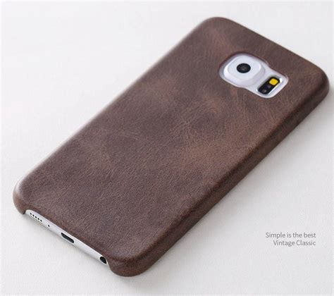 Usams Leather Samsung S6 Edge usams 174 samsung galaxy s6 edge ultra thin grained
