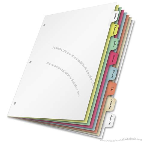 Decorative Tab Dividers by Cardinal Write N Erase Mylar Tab Dividers 8 X Tab Blank