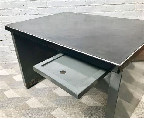vintage industrial metal desk vintage industrial metal desk with drawer 1970s for sale