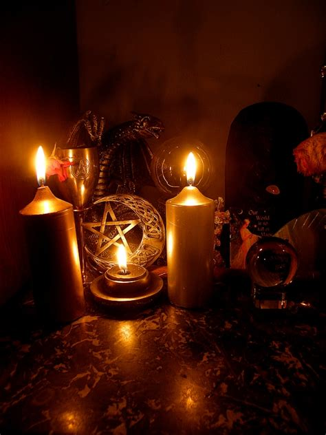 the discreet witch candle magic and romance yule 2010 third altar detail by wilhelmine on deviantart