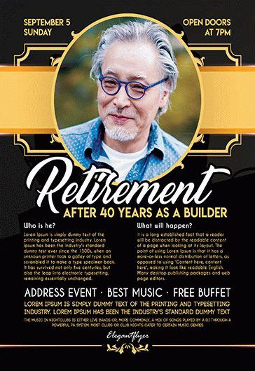 Retirement Flyer Ideas