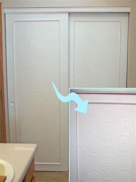 Closet Door Makeover Remodelaholic Bi Fold To Paneled Door Closet Makeover