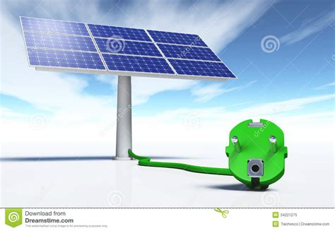 solar panel with a green royalty free stock photo