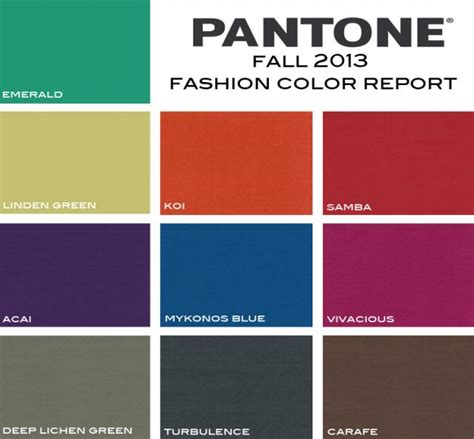 pantone color trends pantone colors fall 2013