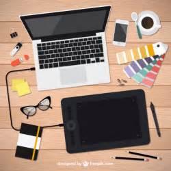 realistic graphic designer tools vector free