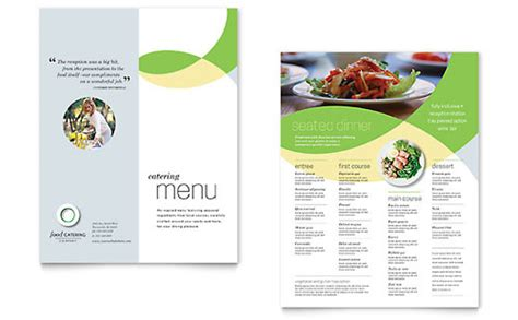 concession menu template food catering postcard template design