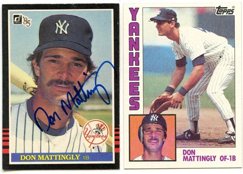1984 Don Mattingly Topps by Lot Detail Don Mattingly 1984 Topps 8 Rc Rookie Card